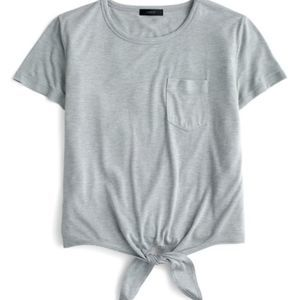 J.Crew Knotted Pocket T-Shirt Gray Size Small